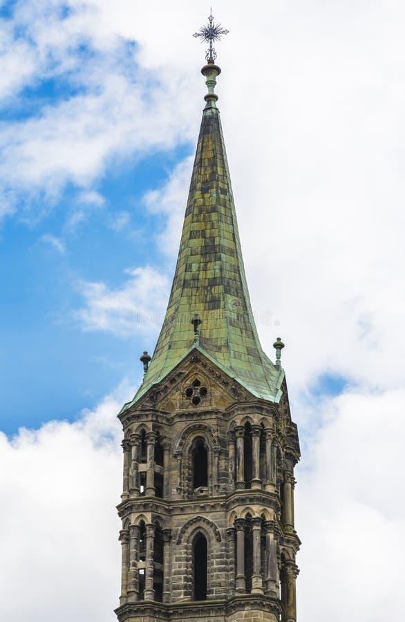 琥珀大教堂塔 库存照片