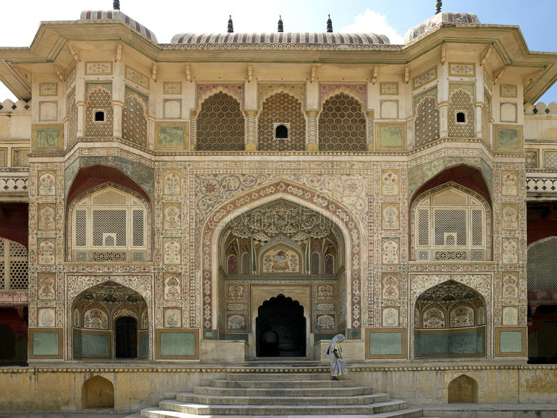 琥珀色的堡垒印度斋浦尔 编辑类图片