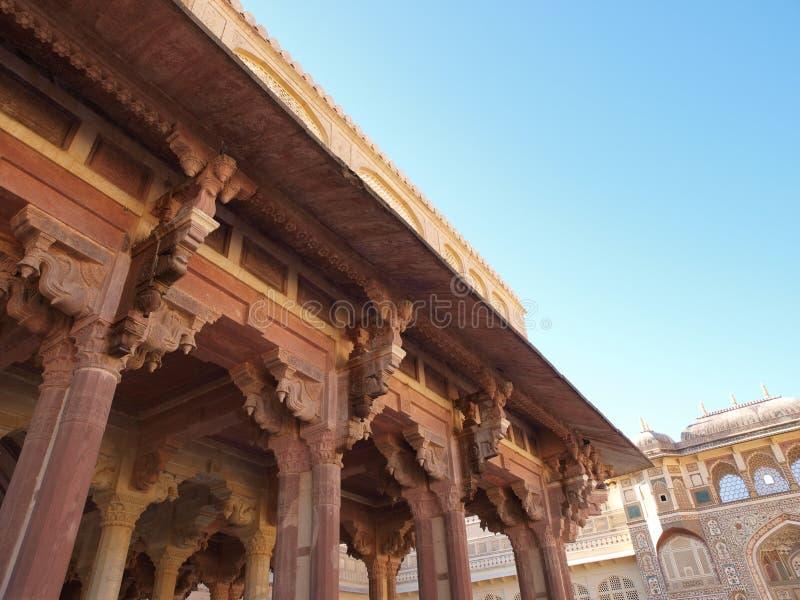 琥珀色的堡垒印度斋浦尔kali寺庙 免版税图库摄影