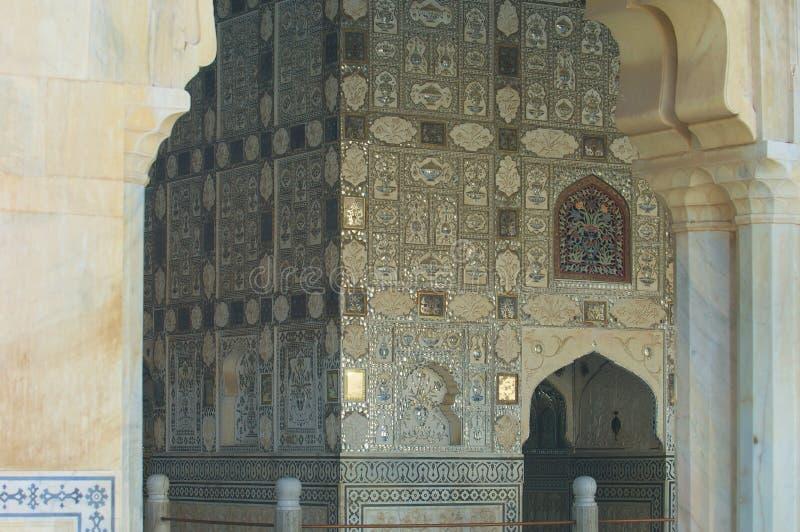 琥珀色的堡垒镜子宫殿 免版税库存照片