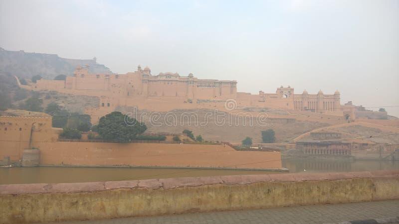琥珀色的堡垒 库存照片
