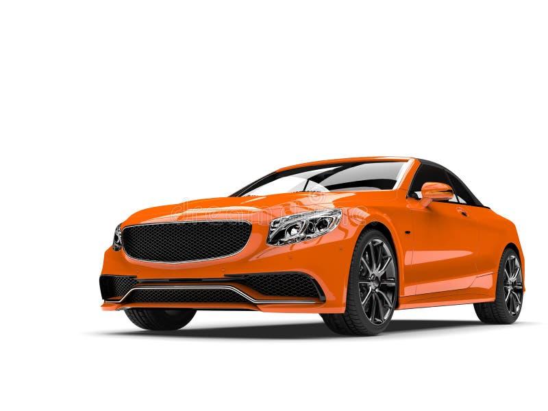 琥珀色的橙色现代豪华敞篷车企业汽车 向量例证