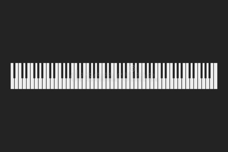 琴键仪器背景 库存例证