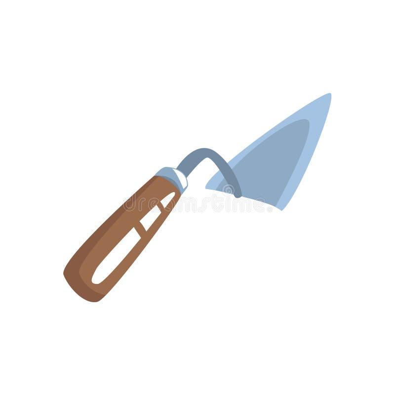 琵琶为建筑泥工的修平刀工具 五颜六色的动画片传染媒介例证 向量例证