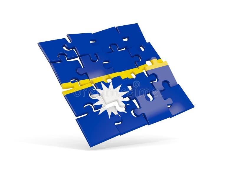 瑙鲁的难题旗子在白色隔绝了 皇族释放例证