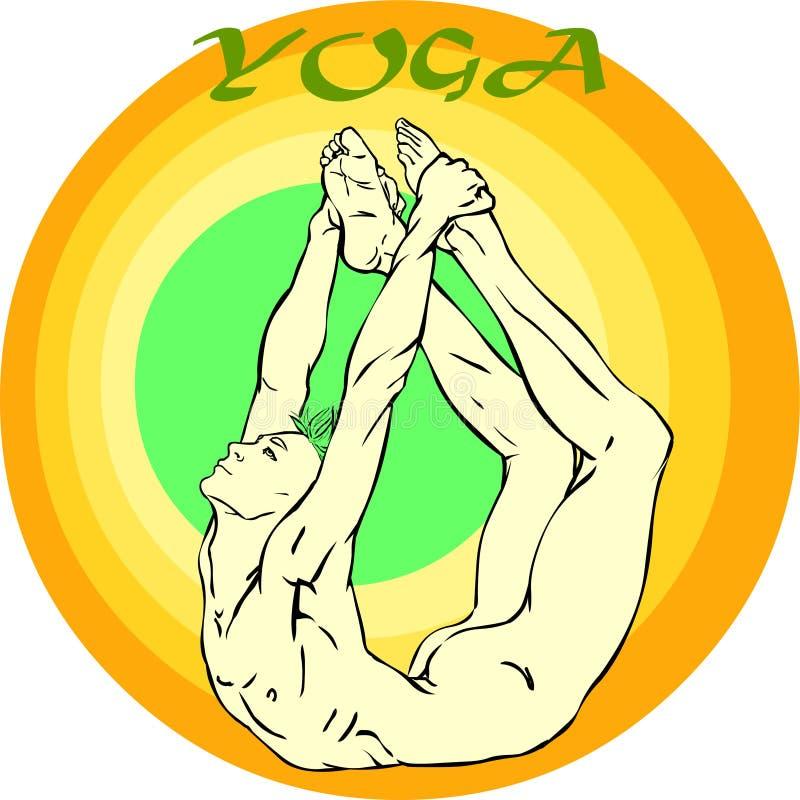 瑜伽凝思:Asana 向量例证