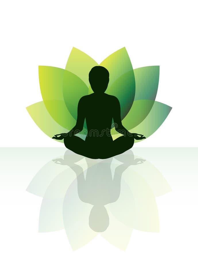 瑜伽凝思 库存照片