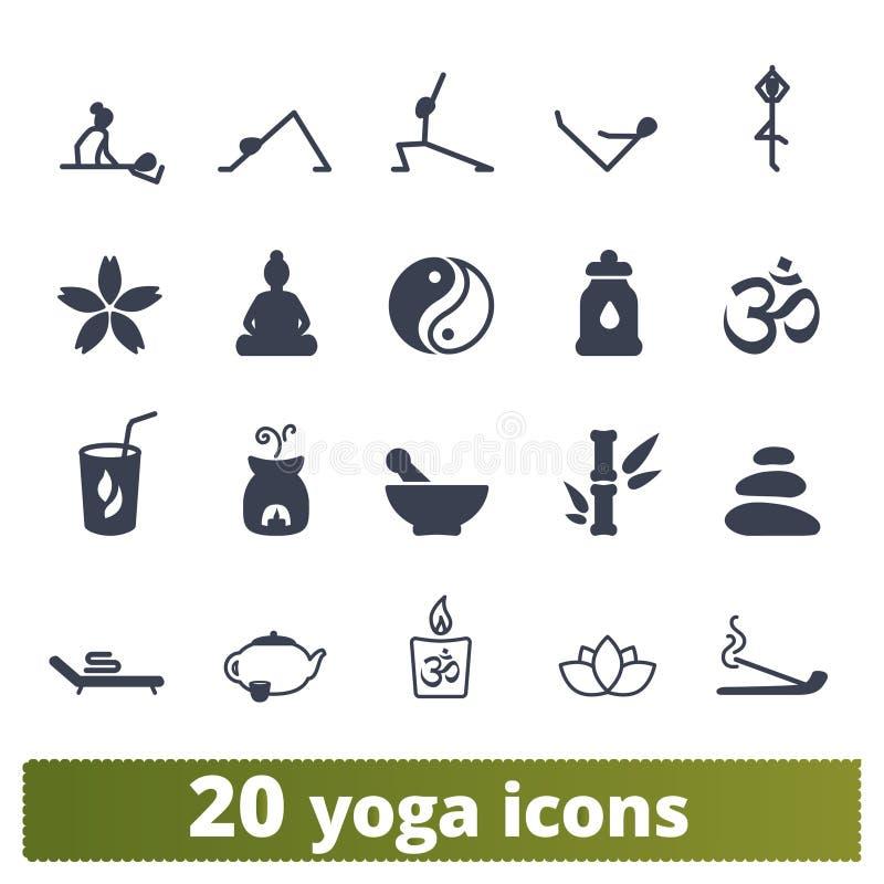 瑜伽和凝思实践象汇集 皇族释放例证
