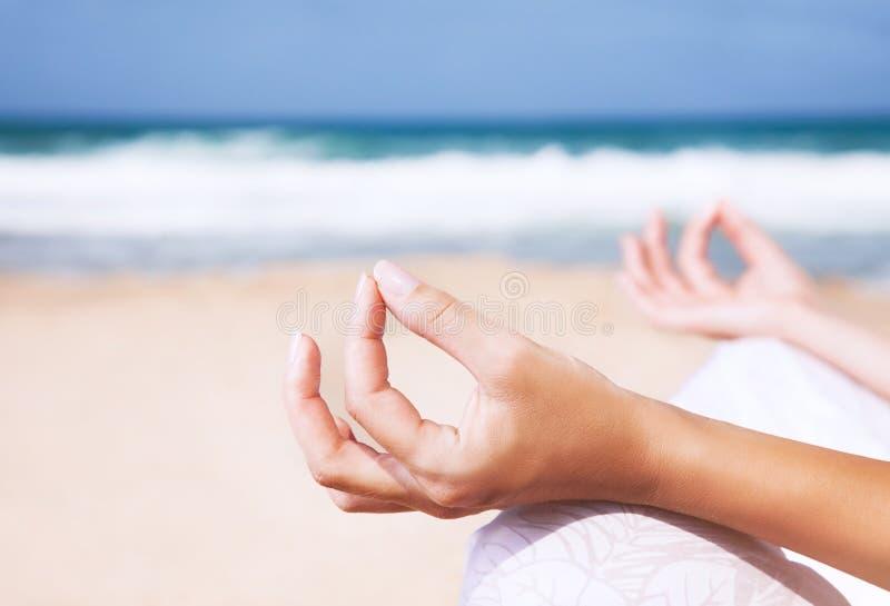 瑜伽和禅宗平衡概念 库存图片