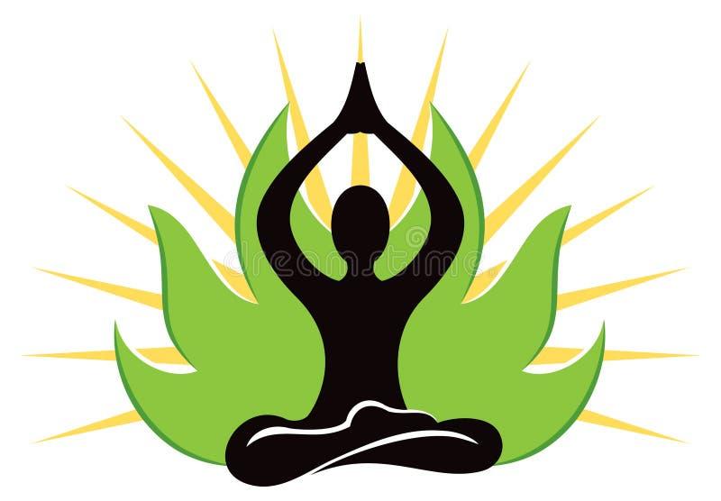 瑜伽商标 库存例证