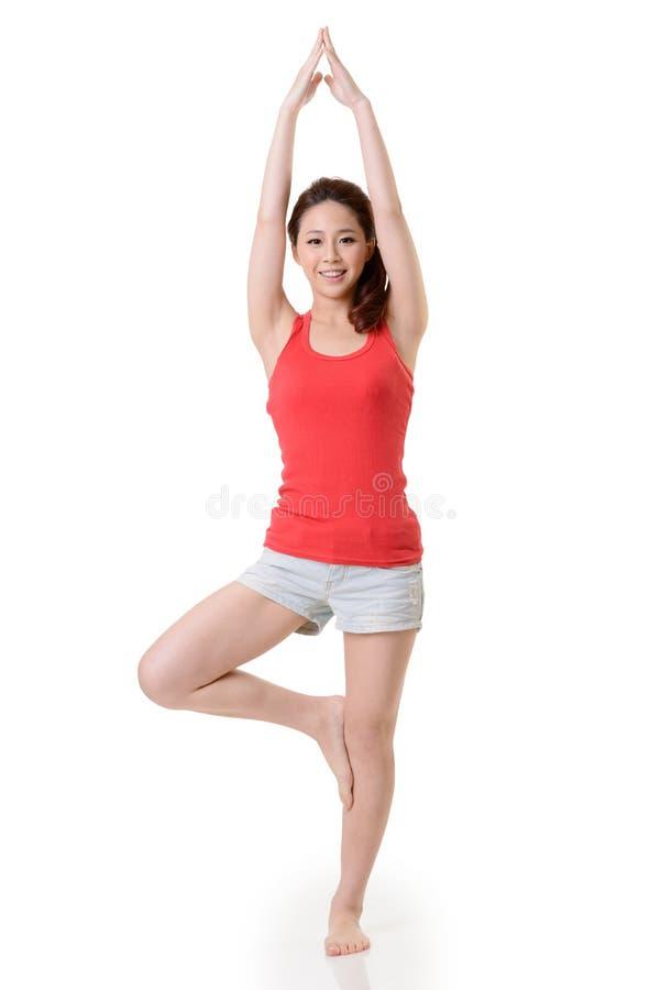 瑜伽女孩 免版税库存图片