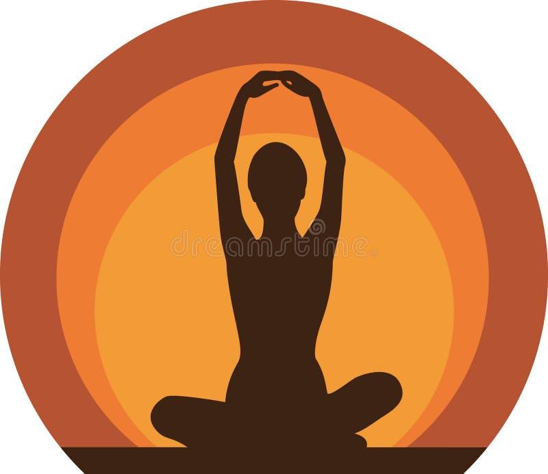 瑜伽妇女 向量例证