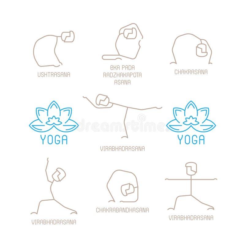 Download 瑜伽摆在单音线型的传染媒介例证 向量例证. 插画 包括有 图标, 开会, 单音, 瑜伽, 实际, 平面, 例证 - 62535448