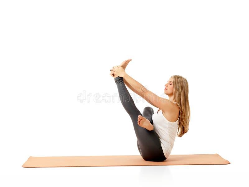 瑜伽本质上 免版税库存照片
