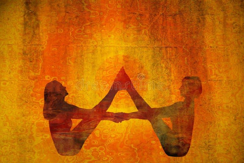 瑜伽标志 免版税库存照片