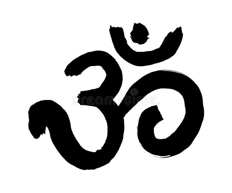瑜伽标志Om 皇族释放例证
