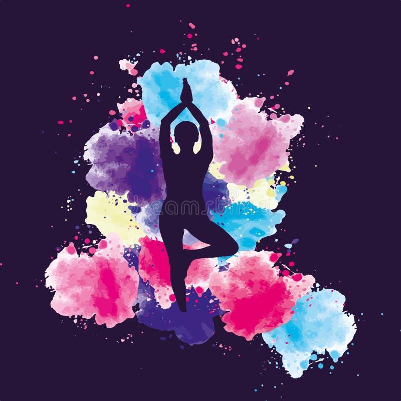 瑜伽疗法 免版税库存照片