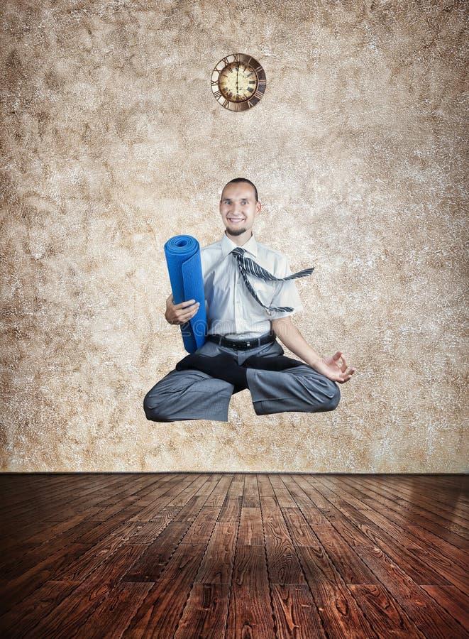 瑜伽的时刻 库存图片