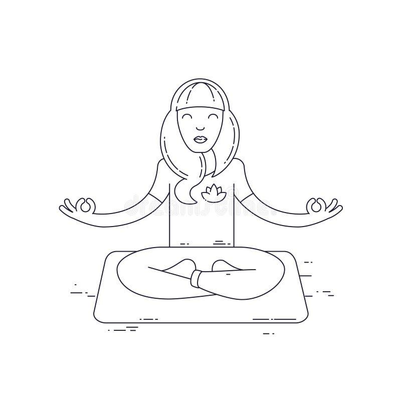 瑜伽锻炼传染媒介例证 库存例证