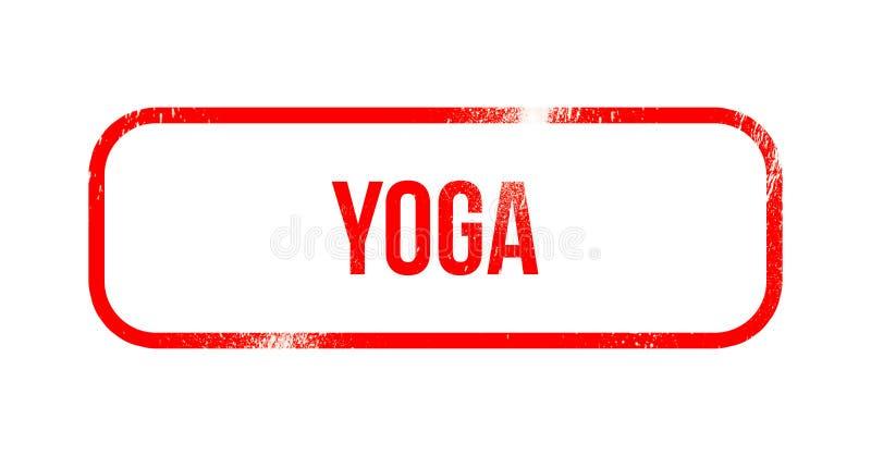 瑜伽-红色难看的东西橡胶,邮票 皇族释放例证