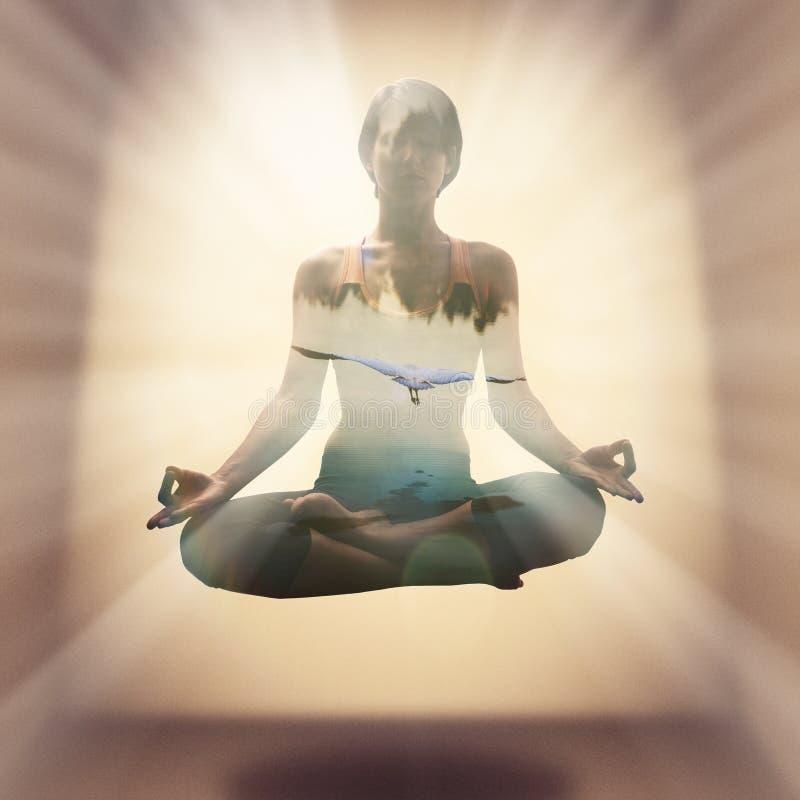 瑜伽concept5 免版税图库摄影