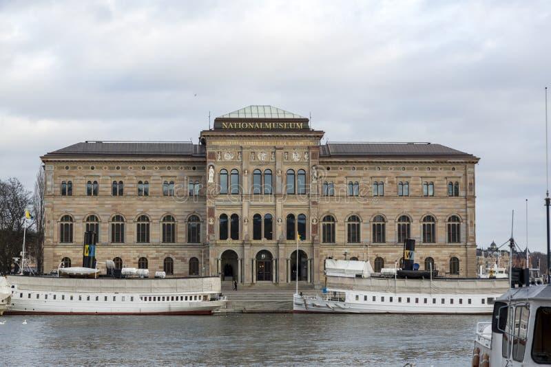 瑞典国家博物馆的建造 — 瑞典最大的美术博物馆 库存照片