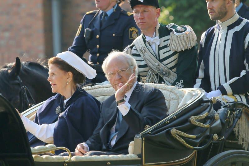 瑞典国王和女王/王后 免版税库存图片