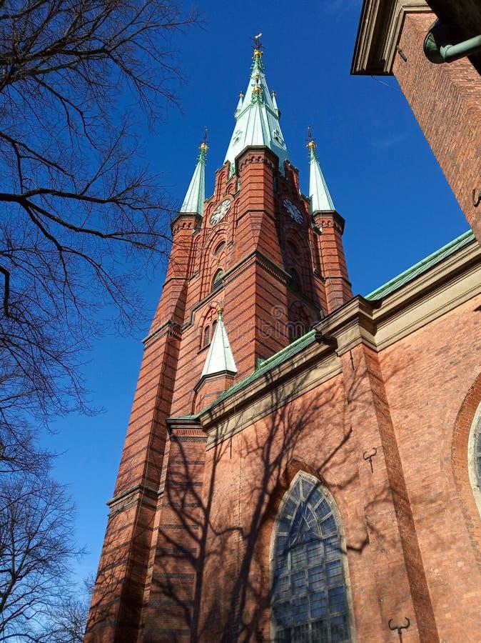 瑞典圣克拉拉教堂 库存照片