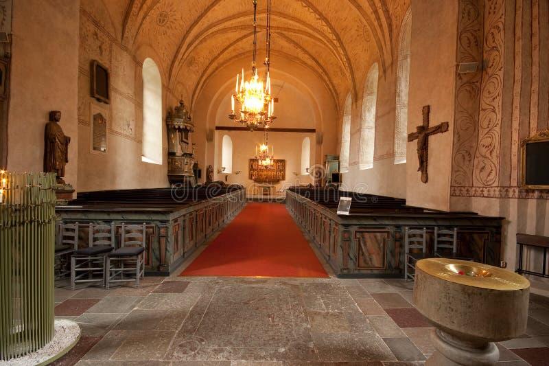 瑞典教会内部。 免版税图库摄影