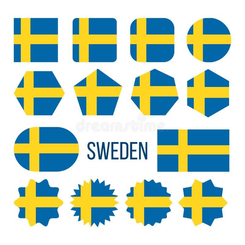 瑞典旗子汇集形象象集合传染媒介 皇族释放例证