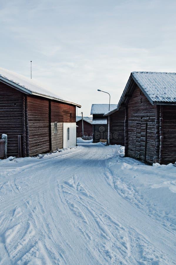 瑞典村庄 库存图片