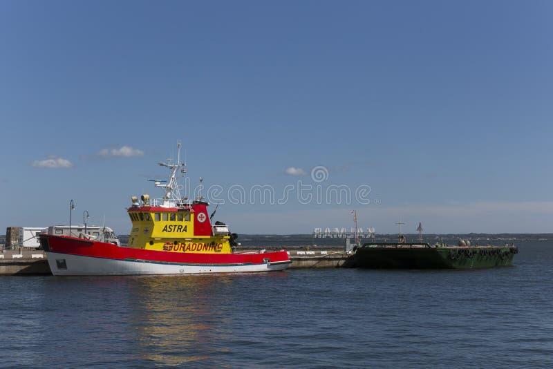 瑞典海抢救社会船阿斯特拉,卡尔马瑞典 免版税库存图片