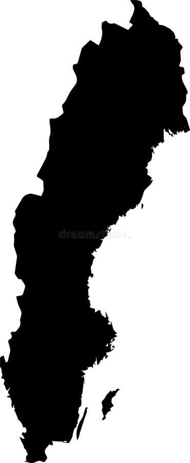 瑞典的传染媒介地图有旗子的 被隔绝的,白色背景 免版税库存照片