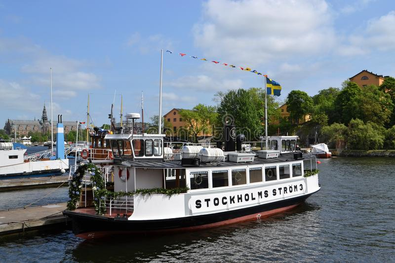 瑞典街市的Stokholm 库存照片