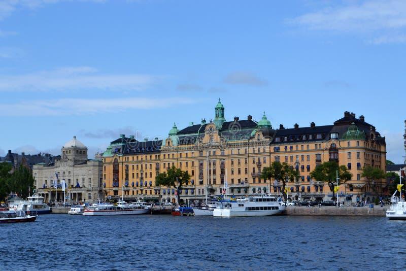 瑞典街市的Stokholm 免版税库存图片