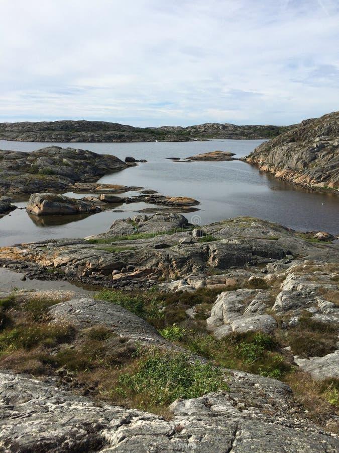 瑞典西海岸风景 免版税图库摄影