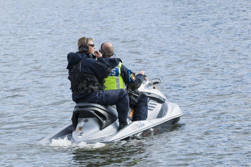 瑞典警察船只 库存图片