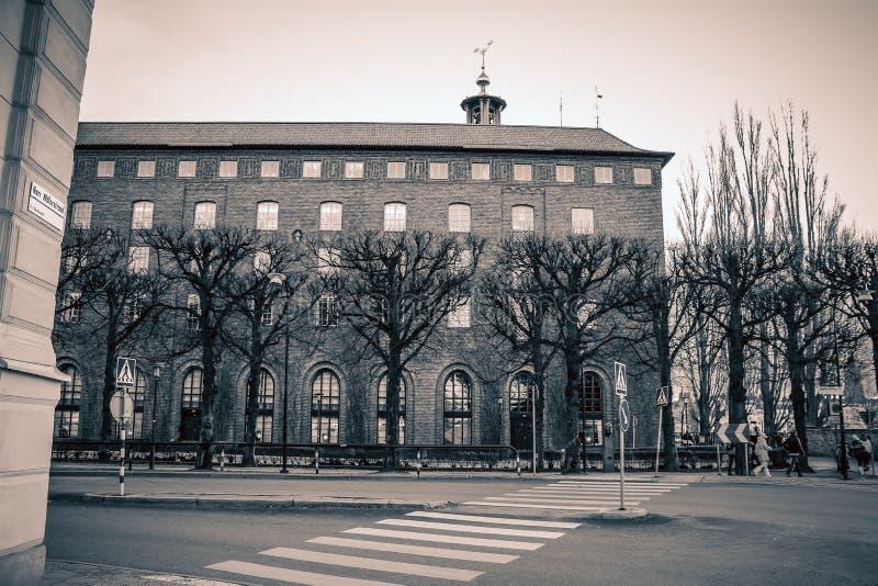 瑞典,斯德哥尔摩–2015年1月05日:城镇厅,斯德哥尔摩市哈尔 免版税库存照片