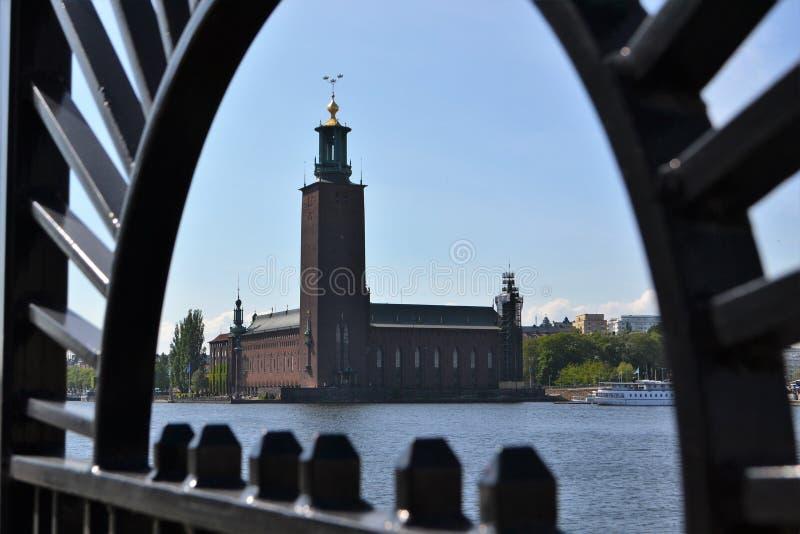 瑞典Stokholm香港大会堂 免版税库存照片