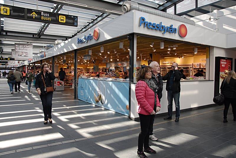 瑞典SVERIGE美国和德国媒介 免版税库存照片