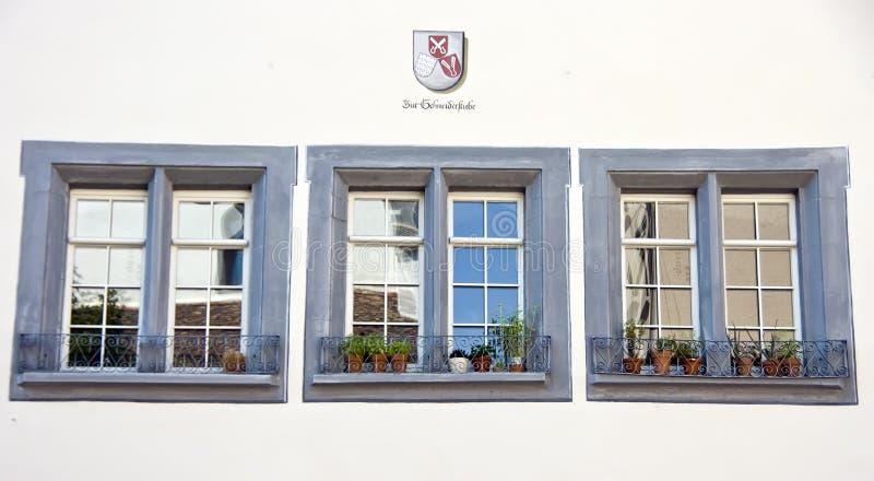 瑞士三视窗 免版税库存照片