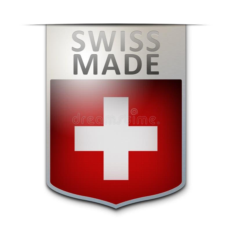 瑞士人做了徽章 皇族释放例证