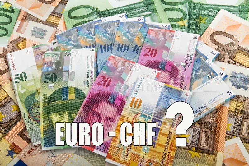 瑞士人和欧盟钞票 库存图片
