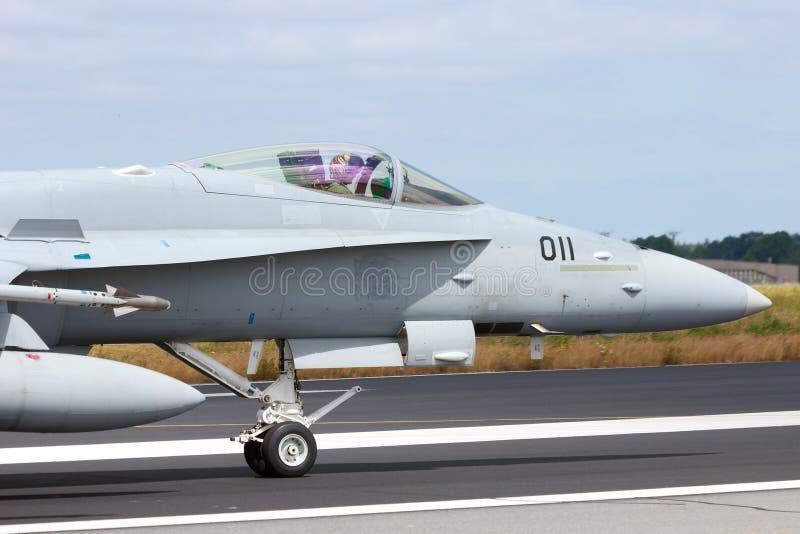 瑞士人空军队F/A-18C大黄蜂 免版税库存图片