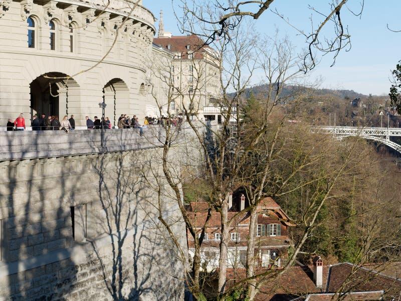 瑞士伯尔尼联邦宫南侧 瑞士伯尔尼联邦宫南侧 库存照片