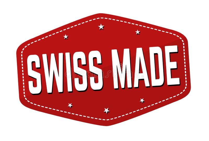 瑞士做的标志或邮票 库存例证