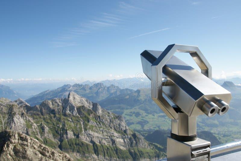 瑞士山全景的看法 库存图片