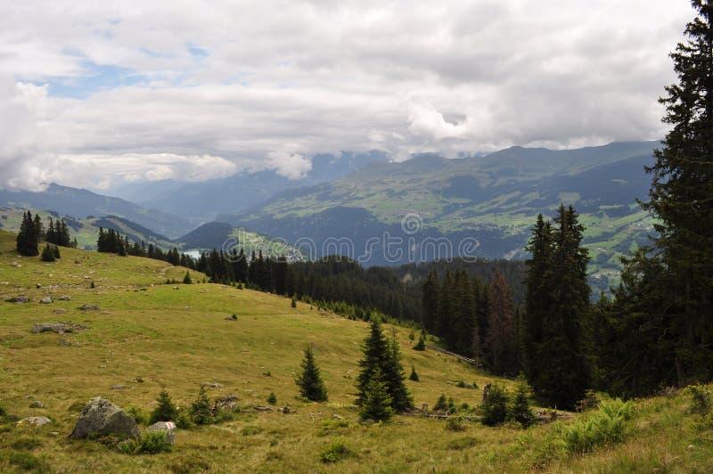 瑞士山景 免版税库存图片