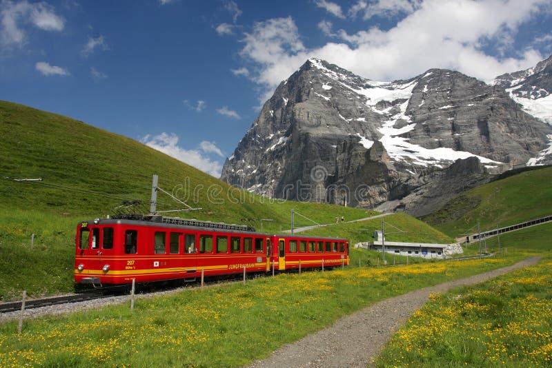 瑞士山铁路 免版税库存照片
