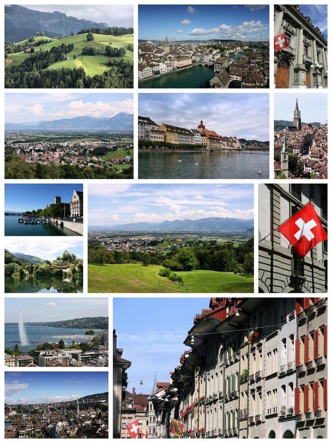 瑞士拼贴画 免版税库存图片